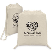Java - 5 oz Natural Cotton Drawstring Backpack