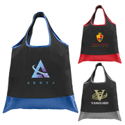 Zurich - Foldaway Shopping Tote Bag - 210D Polyester, 420D RipStop Trim - ColorJet