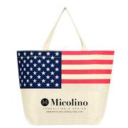 Non-Woven American Flag Tote Bag