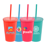 Explore Brights - 16 oz. Double-Wall Tumbler - ColorJet