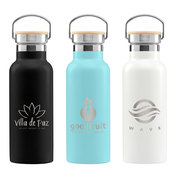 Oahu - 17 oz. Double-Wall Stainless Canteen Bottle - Laser
