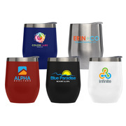 Escape - 11 oz. Double-Wall Stainless Wine Cup - ColorJet