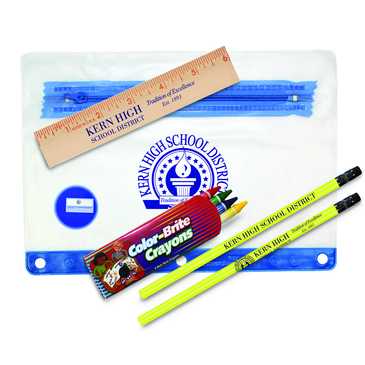 Clear Translucent School Kit
