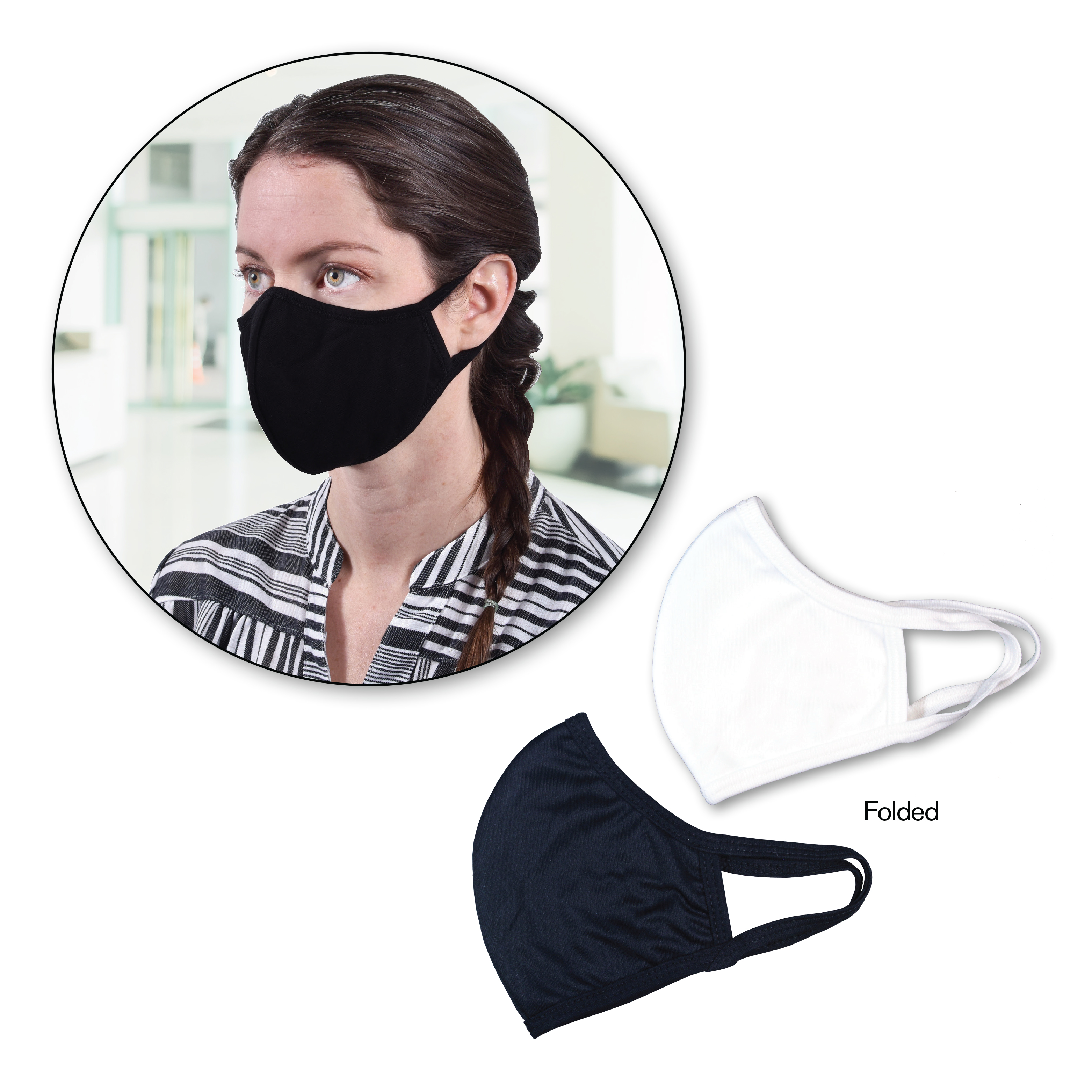 Double Layer Face Mask, Blank