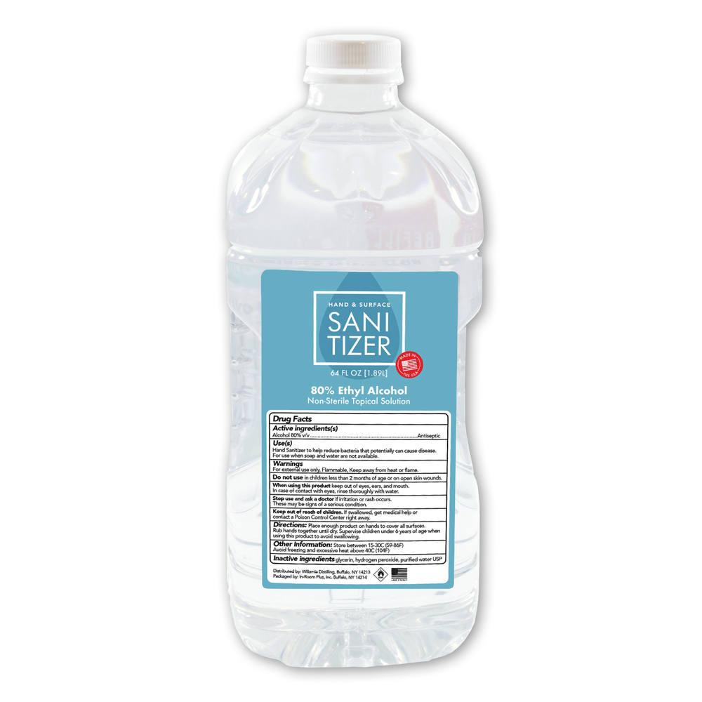 64 oz.  Liquid Hand Sanitizer, Blank