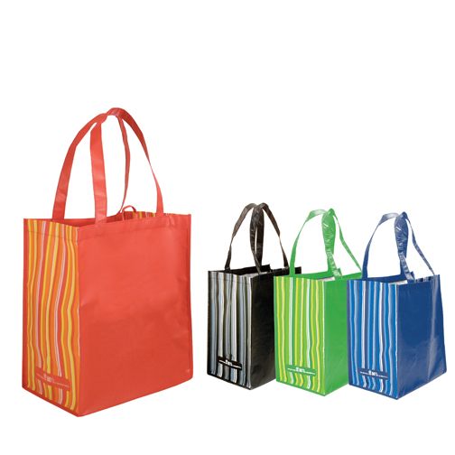 Blank, RPET Striped Tote Bag