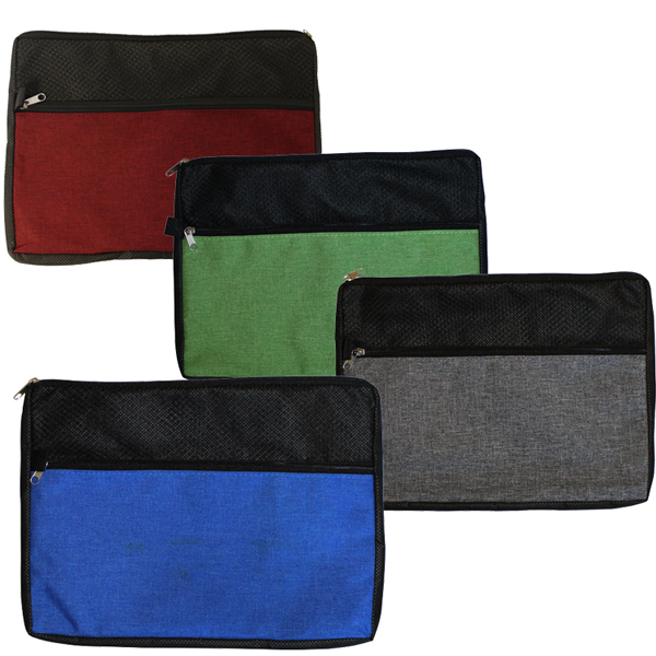 Blank, Double Zipper Accessory Bag