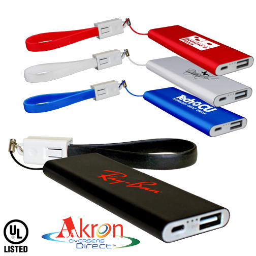 Overseas Direct, Flat Power Bank With Cable