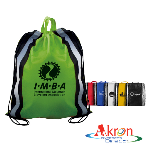 Overseas Direct, NW Reflective Drawstring Backpack