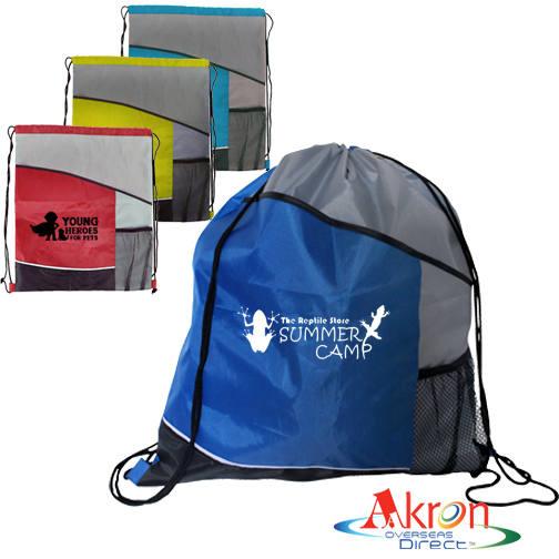 Overseas Direct, Varsity Drawstring Backpack