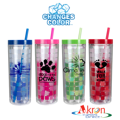 Overseas Direct, 16 oz. Mood Cube Tumbler