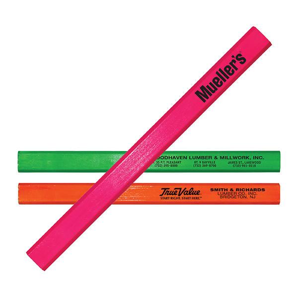 Fluorescent Finish Carpenter Pencil