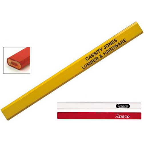Red Graphite Carpenter Pencil