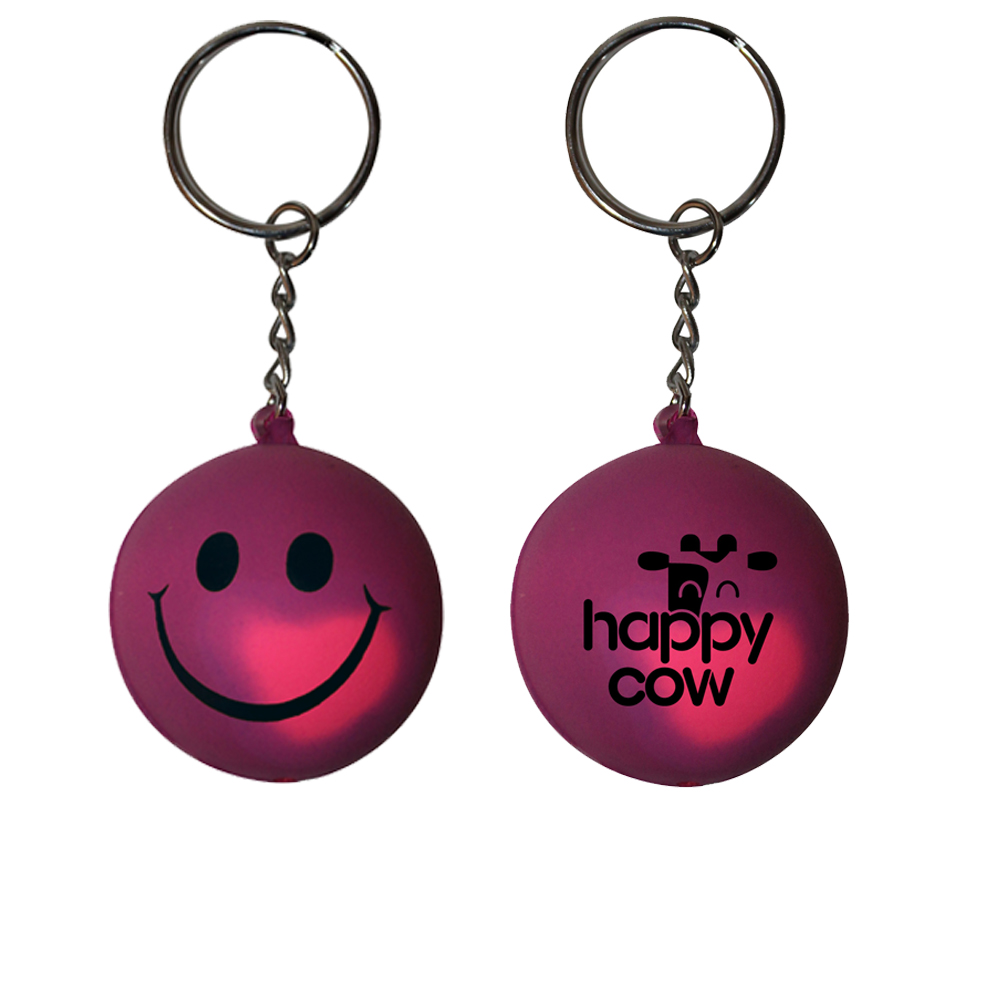 Mood Smiley Face Stress Key Chain