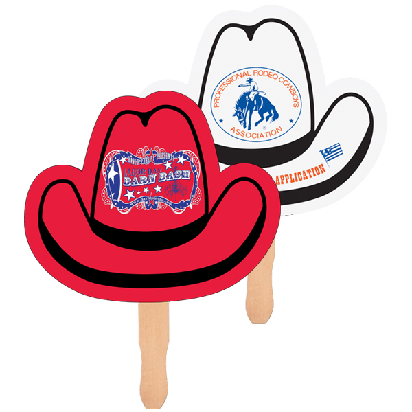 Cowboy Hat Shape Hand Fan