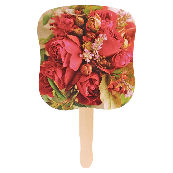 Stock Design Hand Fan-Flower Bouquet