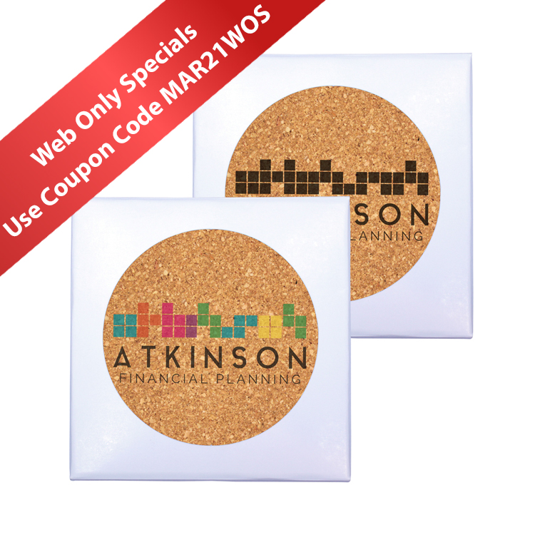Deluxe Cork Coasters, Pack of 4