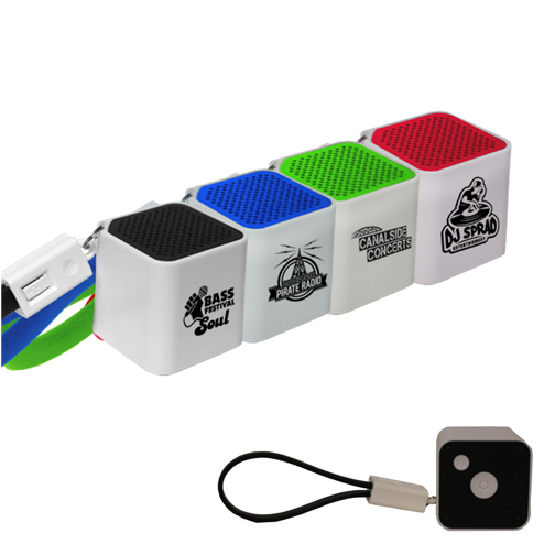 Bluetooth® Cube Speaker with Cable- Closeout