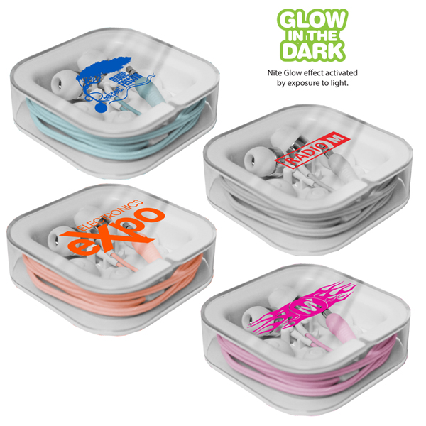 Nite Glow Ear Buds - Closeout