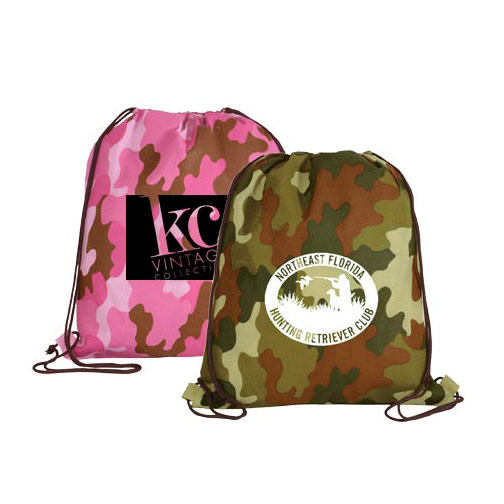 NW Camo Drawstring Backpack