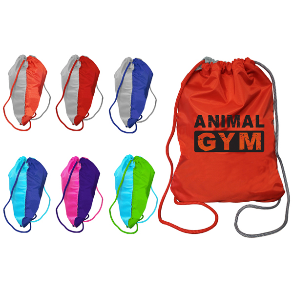Two Tone Drawstring Backpack- Closeout
