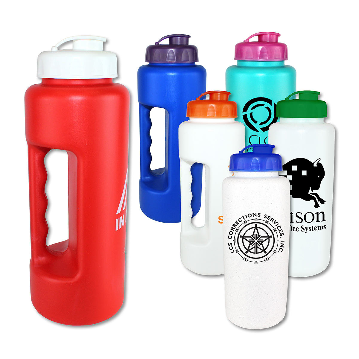 32 oz. Grip Bottle with Flip Top Cap