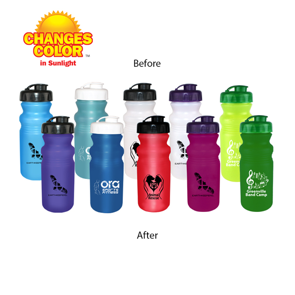 20 oz. Sun Fun Cycle Bottle with Flip Top Cap