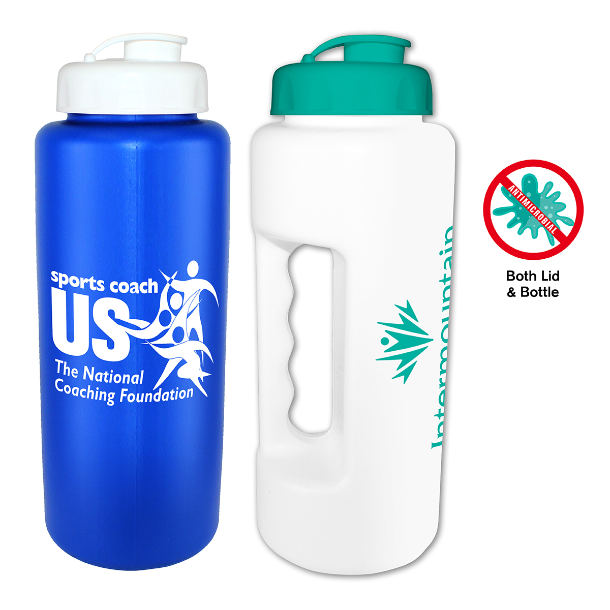 32 oz. Antimicrobial Grip Bottle with Flip Top Cap