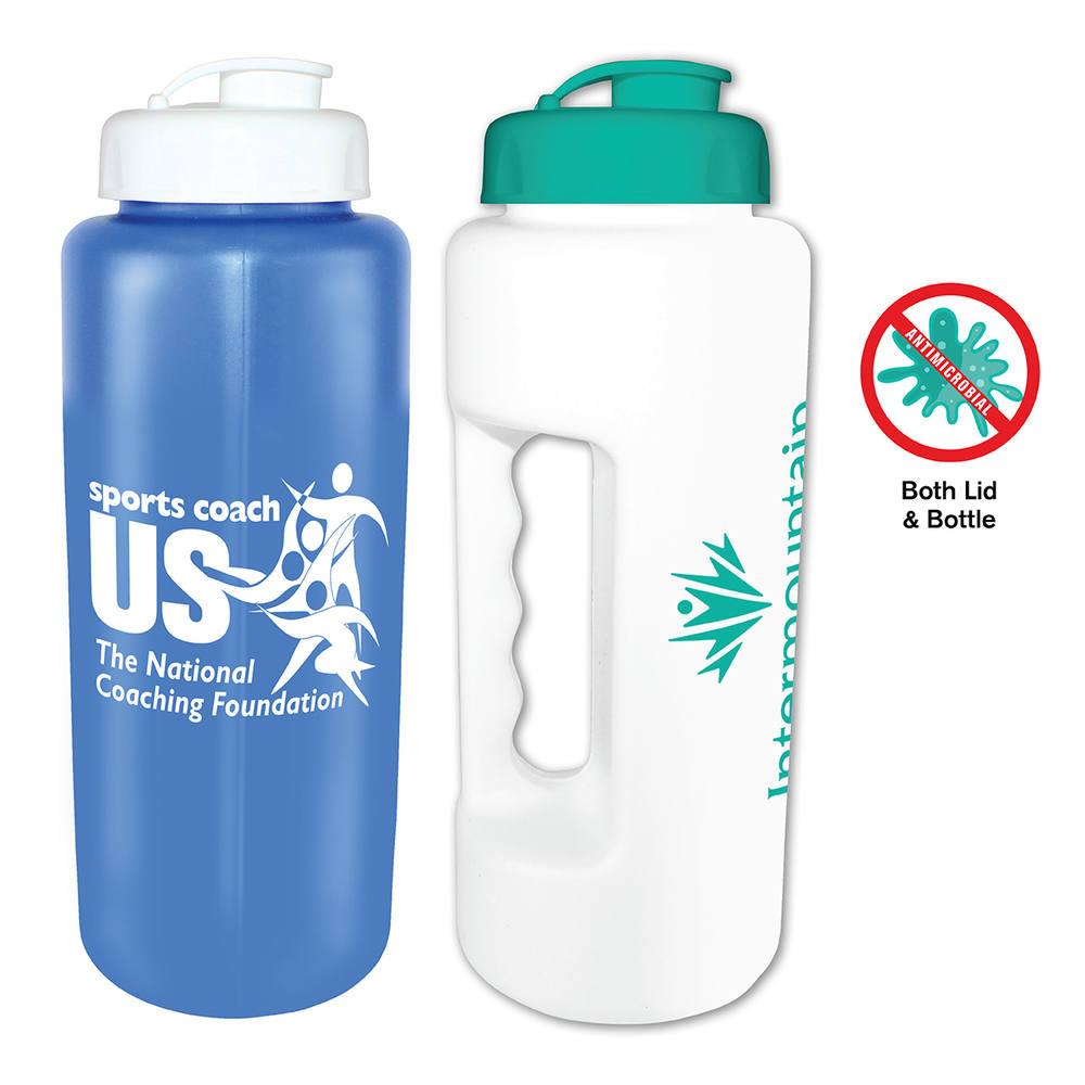 32 oz. Antimicrobial Grip Bottle with Flip Top Cap