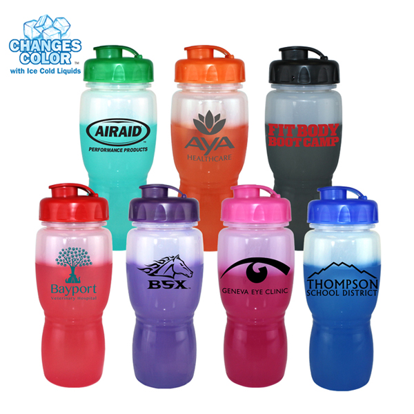 18 Oz. Mood Poly-Saver Mate Bottle with Flip Top Cap