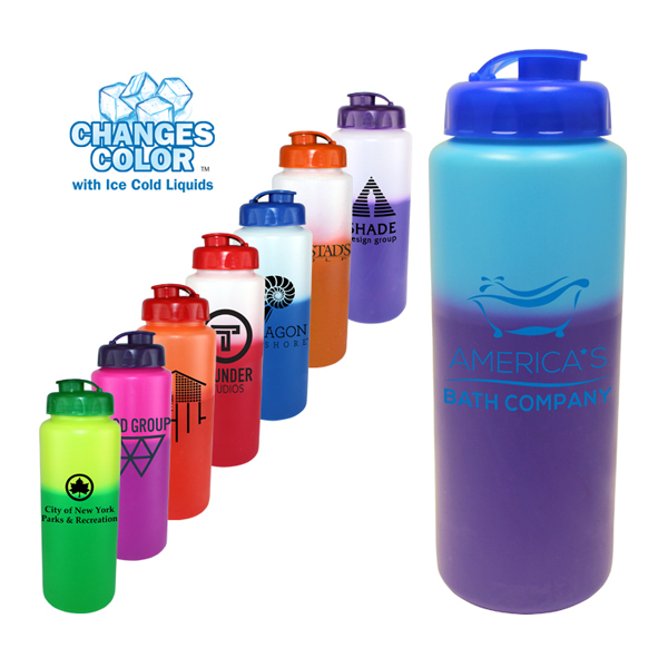 32 oz. Mood Sports Bottle with Flip Top Cap