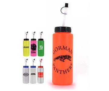 32 oz. Sports Bottle with Flexible Straw