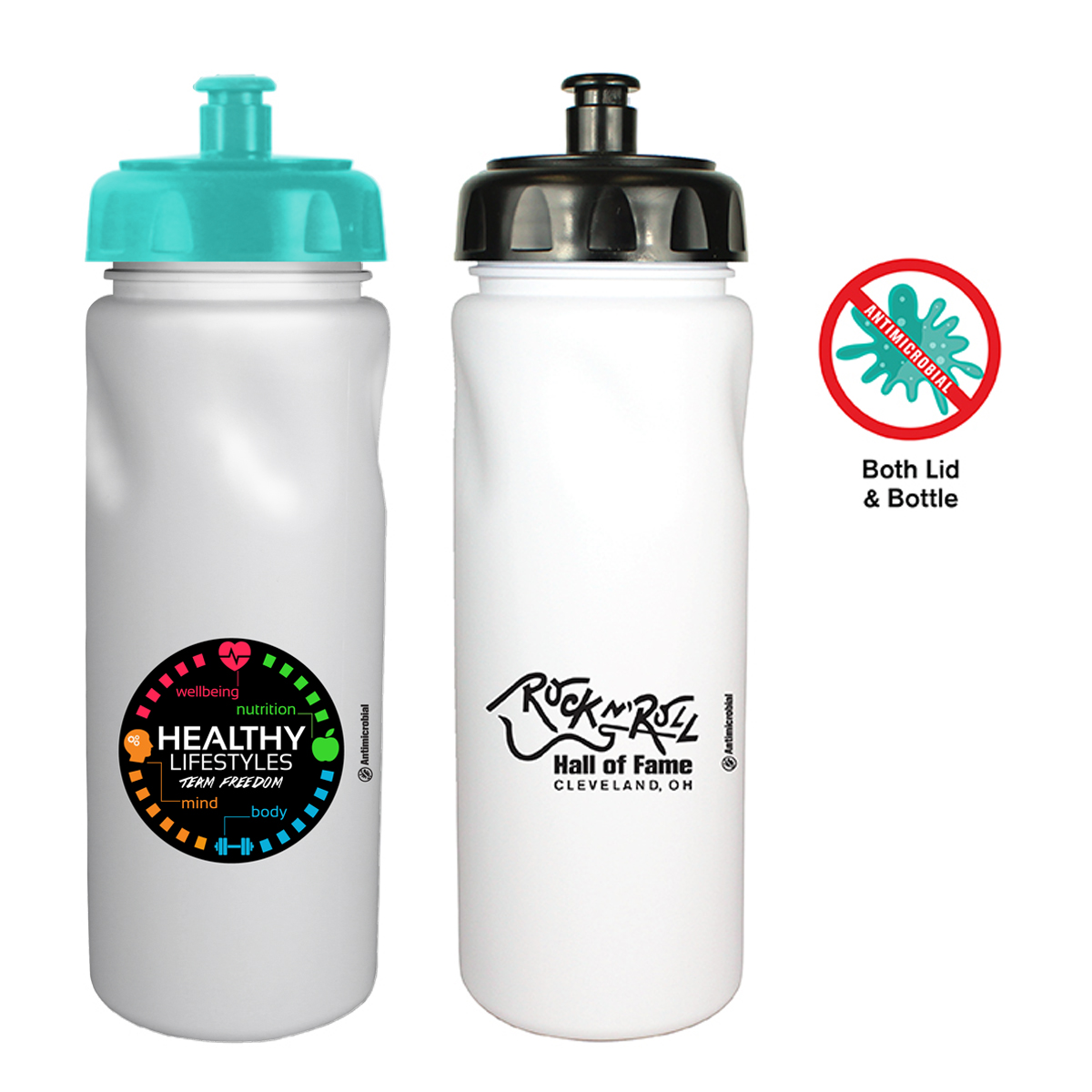 24 Oz. Antimicrobial Cycle Bottle with Push 'n Pull Cap