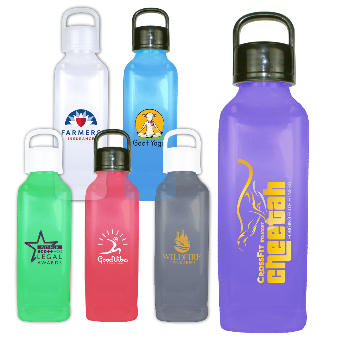 24 oz. Classic Edge Bottle with Handle Lid