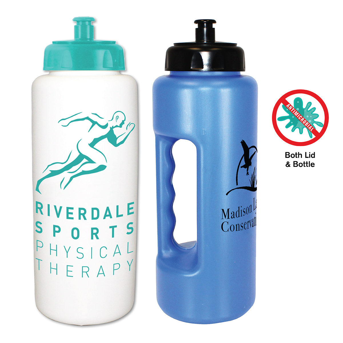 32 oz. Antimicrobial Grip Bottle with Push 'n Pull Cap