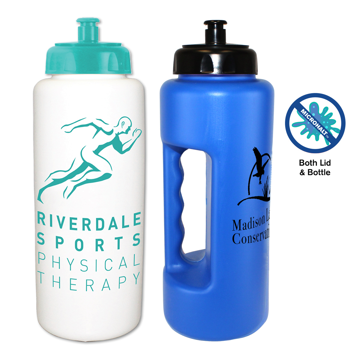 32 oz. MicroHalt Grip Bottle with Push 'n Pull Cap