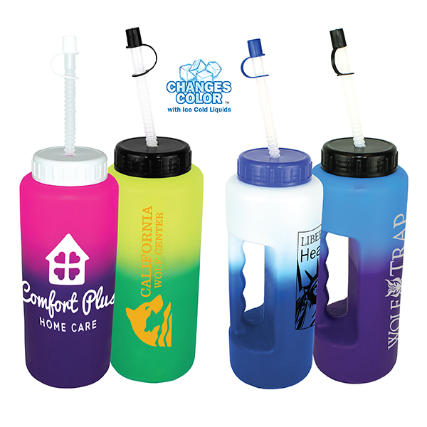 32 oz. Mood Grip Bottle with Flexible Straw