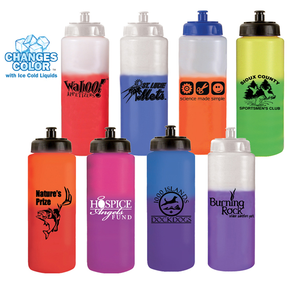 32 oz. Mood Sports Bottle with Push 'n Pull Cap