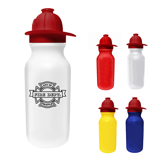 20oz. Value Cycle Bottle w/Fireman Helmet Push'nPull Cap