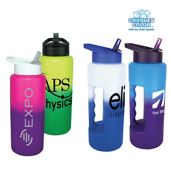 32 oz. Mood Grip Bottle with Straw Cap Lid