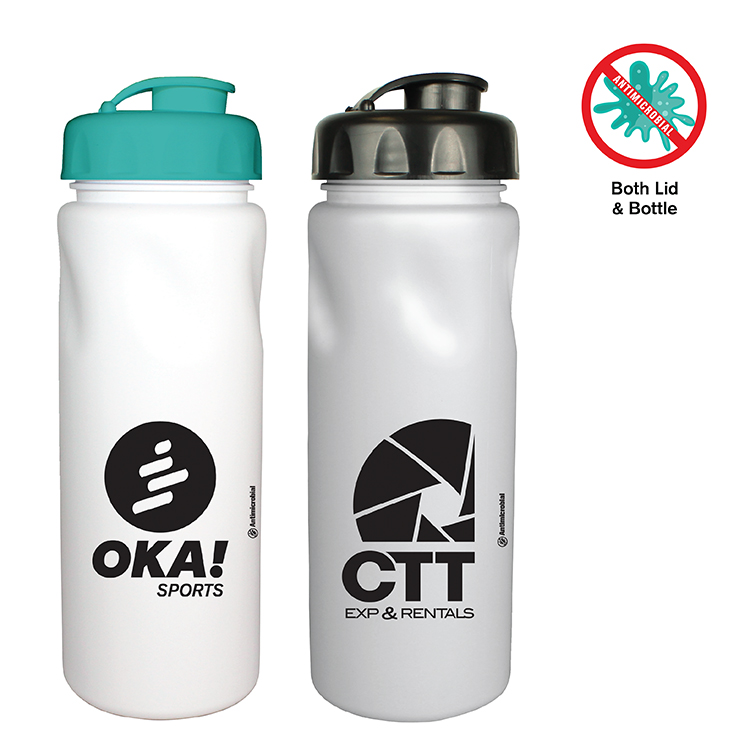 24 Oz. Antimicrobial Cycle Bottle with Flip Top Cap