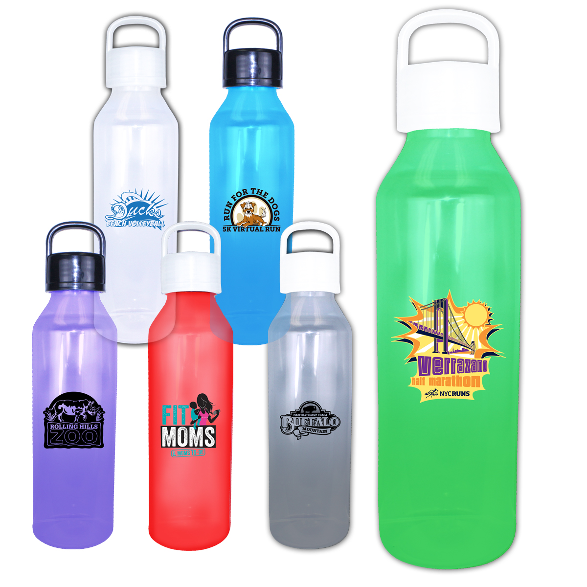24 oz. Classic Revolve Bottle with Handle Lid