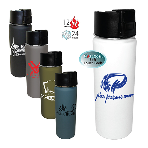 20 oz. Halcyon® Sport Bottle w/ Push Button Lid
