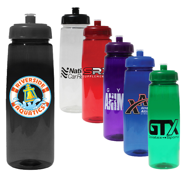 30 oz. Poly-Saver PET Bottle with Push 'n Pull Cap