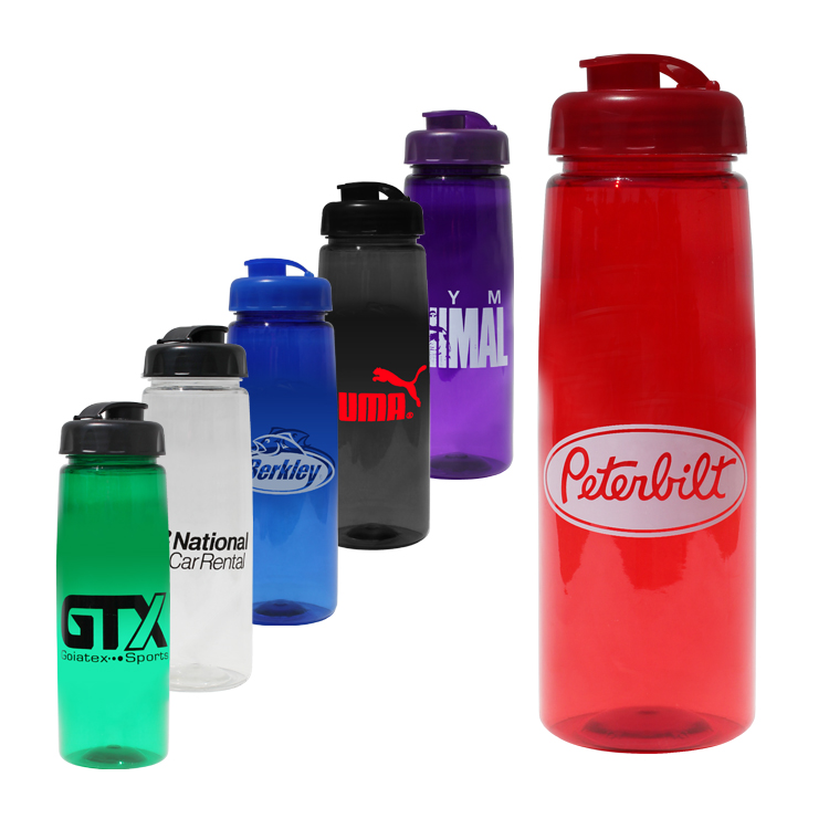 30 oz. Poly-Saver PET Bottle with Flip Top Cap