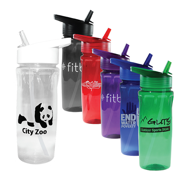18 oz. Poly-Saver PET Bottle with Straw Cap