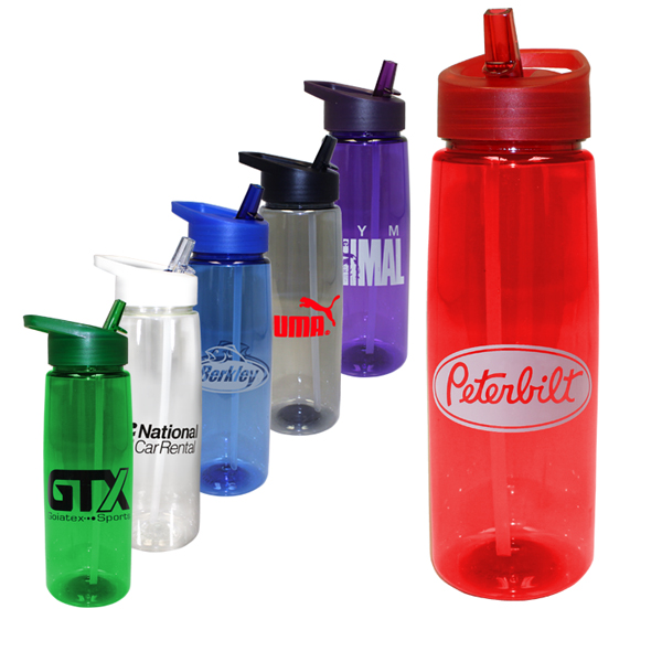 30 oz. Poly-Saver PET Bottle with Straw Cap