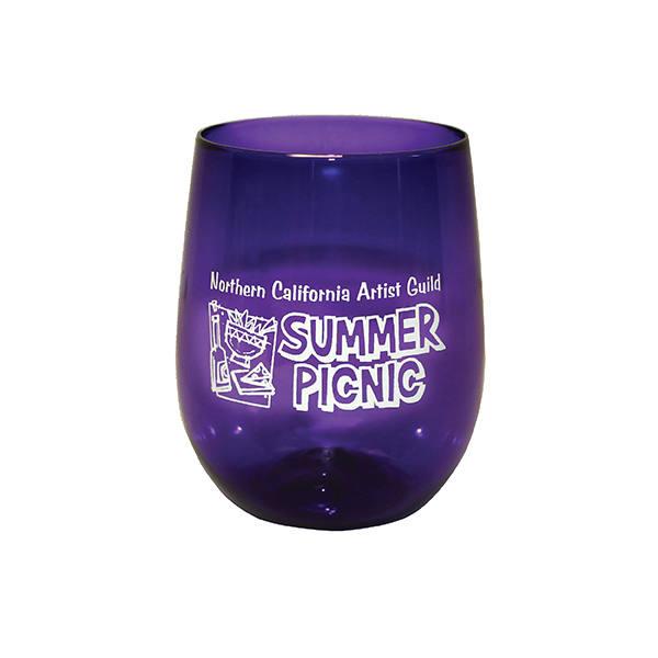12 oz. Plastic Stemless Wine Glass