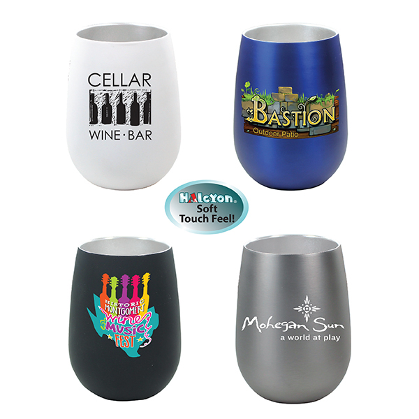 12 oz. Halcyon® Stainless Steel Wine Glass