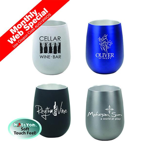 12 oz. Halcyon® Stainless Steel Wine Glass